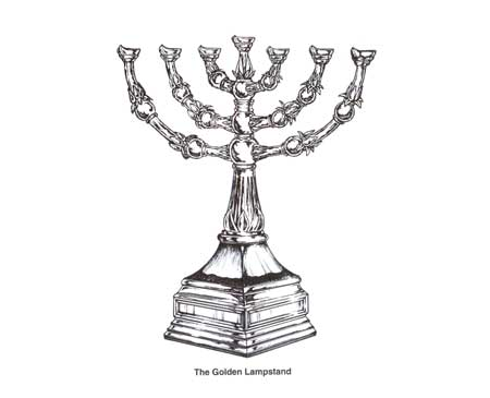 CANDLESTICK  LAMPSTAND   Tabernacle Lampstand